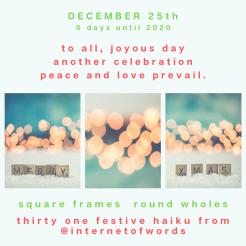 Square Frames Dec 25th